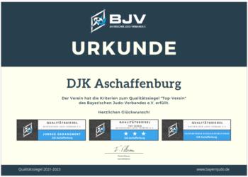 Qualitätssiegel Top-Verein 3 Sterne DJK Aschaffenburg